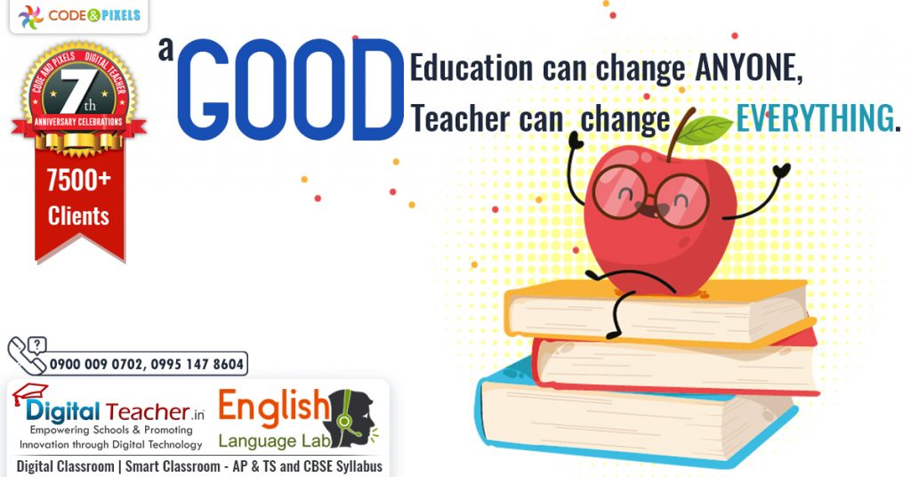 A Good Education can Change Anyone, A Good Teacher can Change Everything