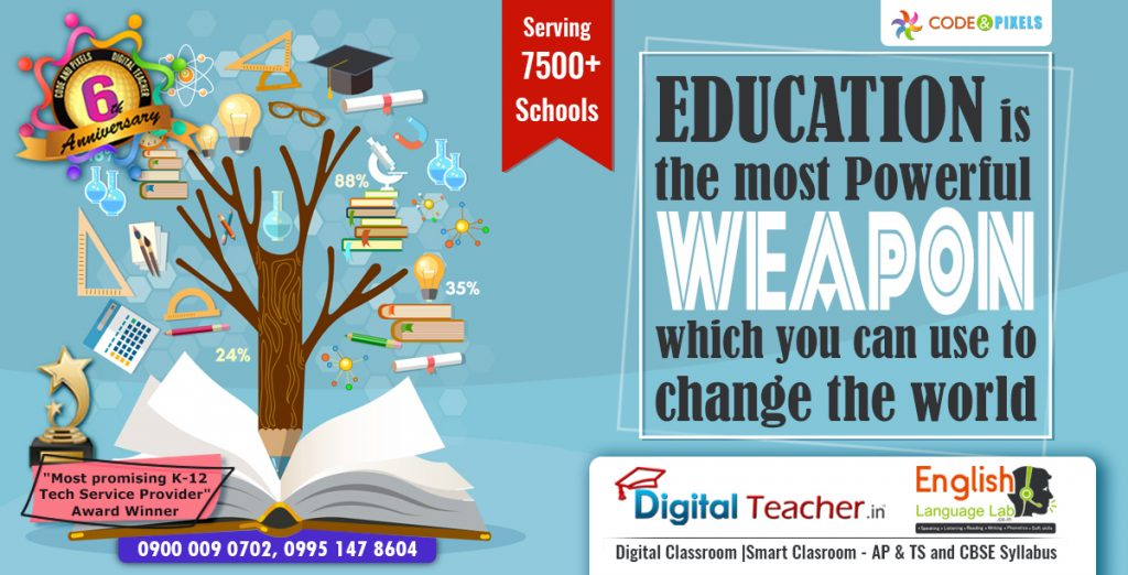 Education is the most powerful weapon - Digital teacher english language lab