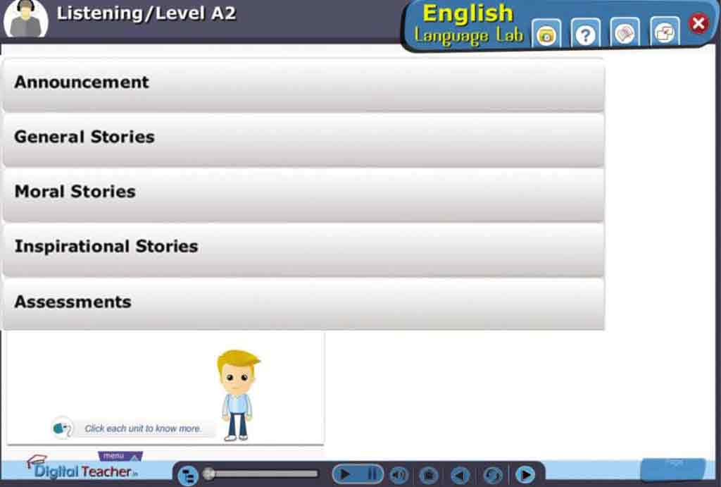 English Language Lab provides activity on Listening Stories to Improve English listening easily