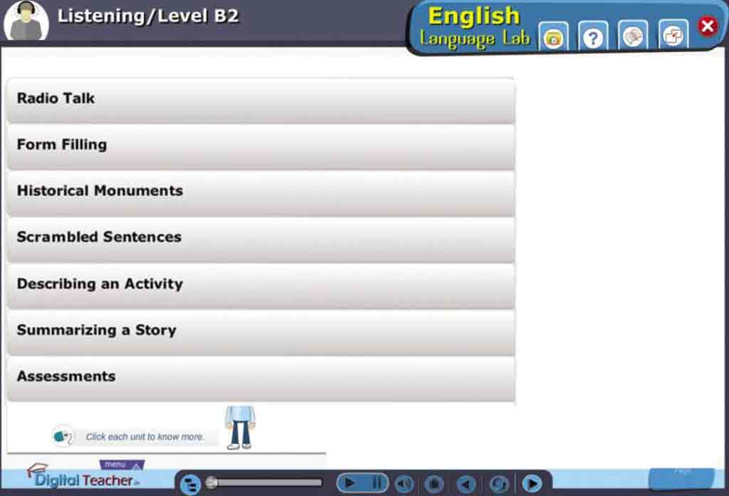 English Language Lab practical activities with level B2 English Listening Skills