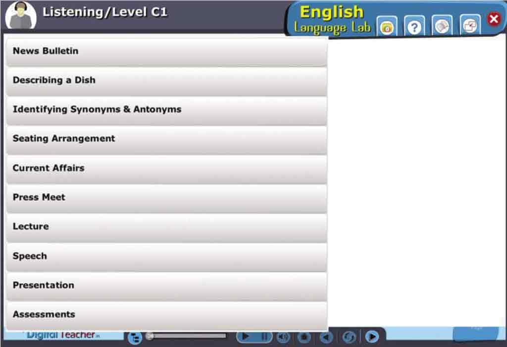 English Language Lab practical activities with level C1 English Listening Skills