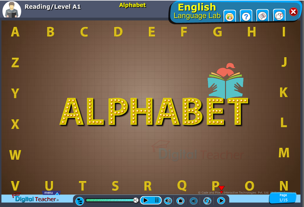 English language lab reading infographic activities provides activity of reading alphabets