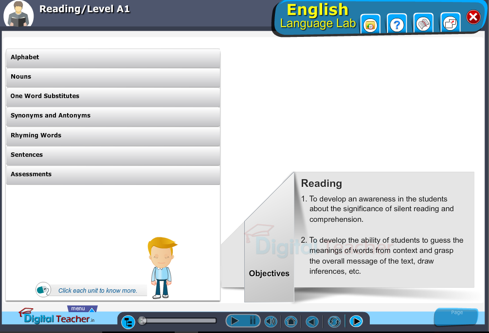 English language lab reading infographic activities provides idea on different activities to read easily.