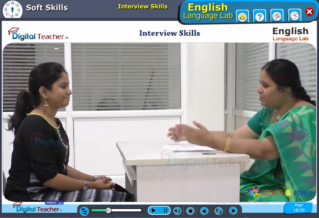 English language lab softskills infographic teaches one on one to improve interview skills