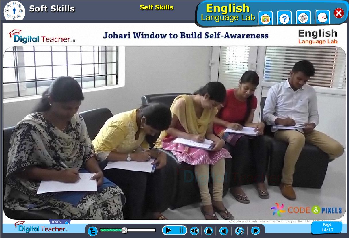 English language lab softskills infographic about building self awareness