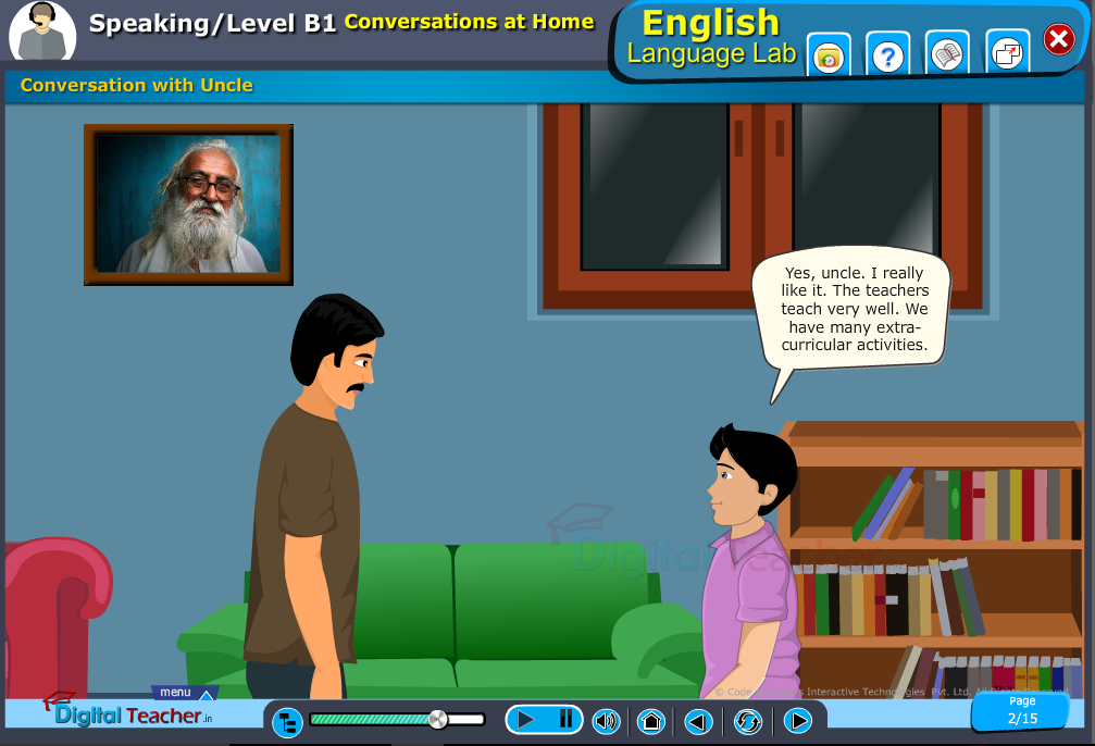 English speaking infographics provides activity about how to make a conversation with uncle.