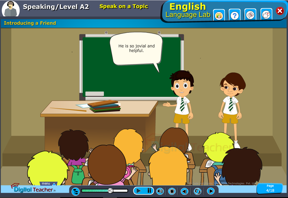 English language lab speaking infographic provides activity of introducing a friend for speaking on a topic activity