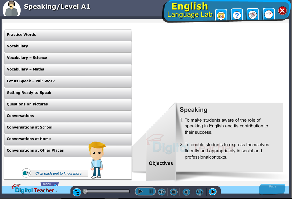 English language lab speaking infographic activities provides idea on different activities to speak easily.