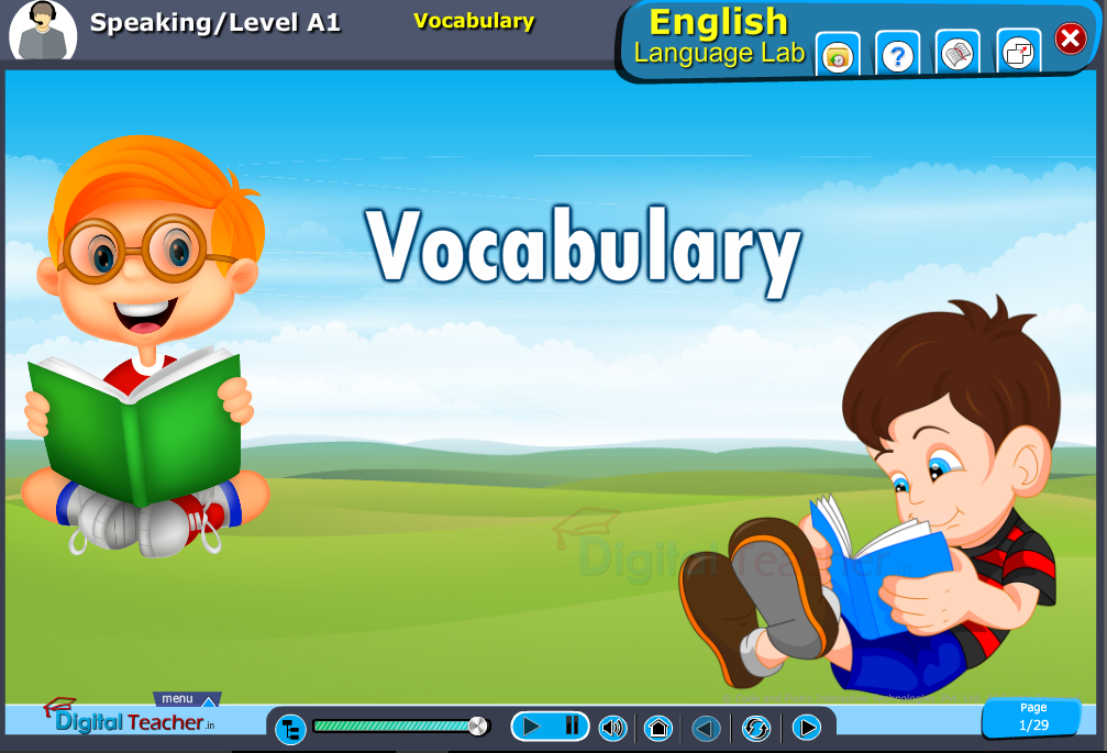 English language lab speaking infographic provides a speaking vocabulary